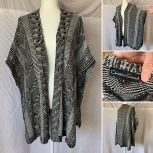 Sweaters - Grey sweater shawl